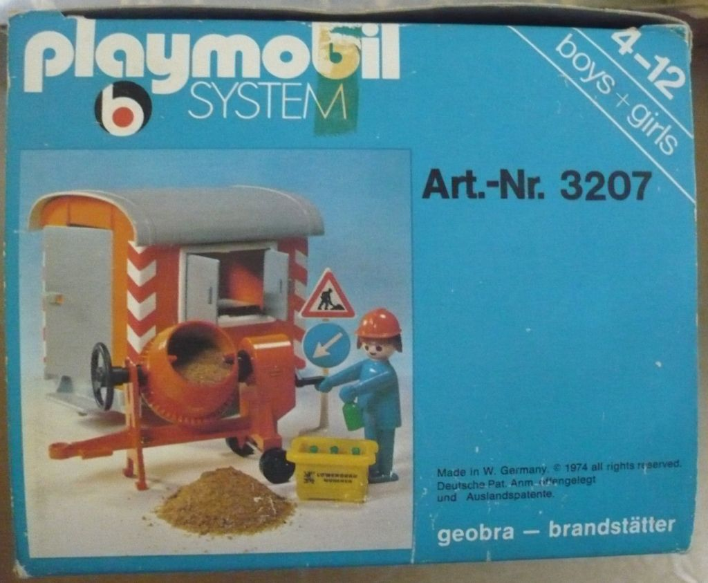 Playmobil 3207s1v1 - Construction Trailer and Cement Mixer - Box