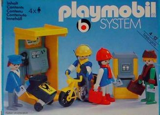 Playmobil - 3231v4 - Phone Booth and Mailmen