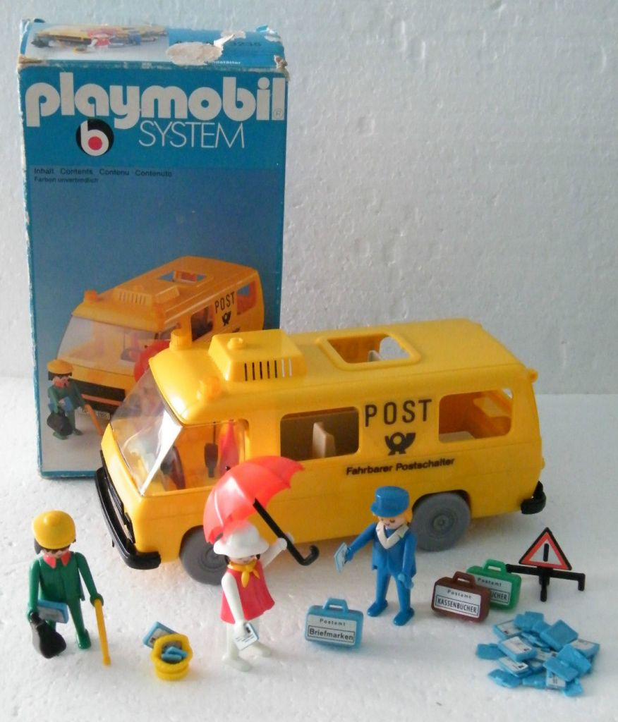 Playmobil 3235s1 - Postal Van - Back