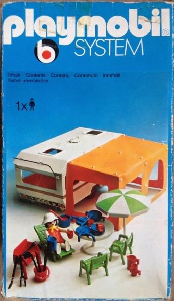 Playmobil 3249s1v2 - Caravan / orange awning - Box