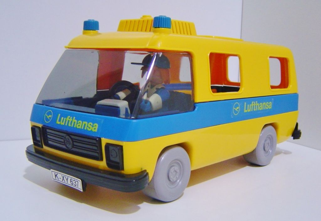 Playmobil 3255s2 - Airport Van Lufhansa - Back