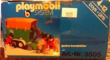Playmobil 3505 - Horse Trailer - Back
