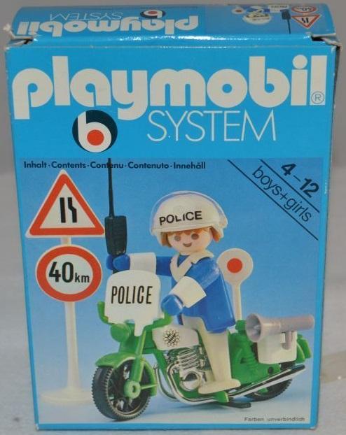 Playmobil 3572 - Policeman / motorbike - Box