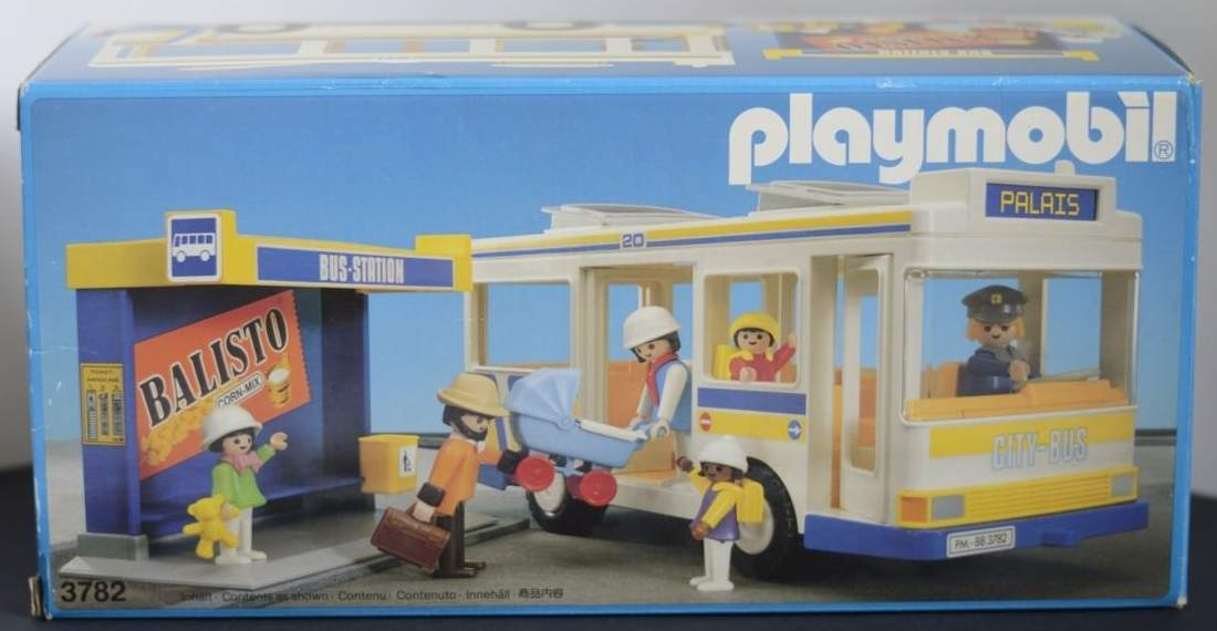 Playmobil 3782 - City Bus And Shelter - Box