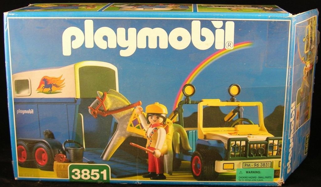 Playmobil 3851-usa - Jeep with horse trailer - Box