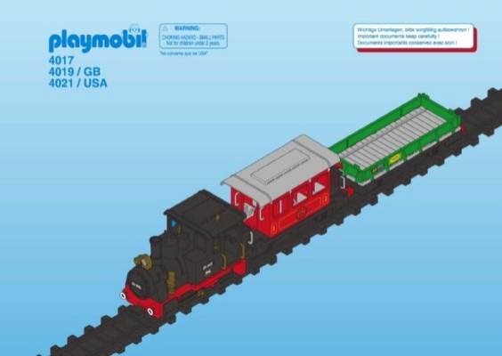 Playmobil 4017 - RC Old-timer Train - Box