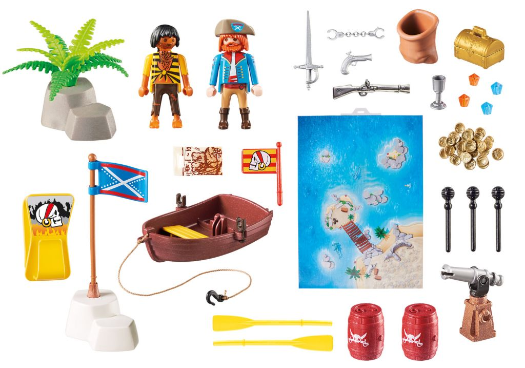Playmobil 9328 - Play Map Pirates - Back
