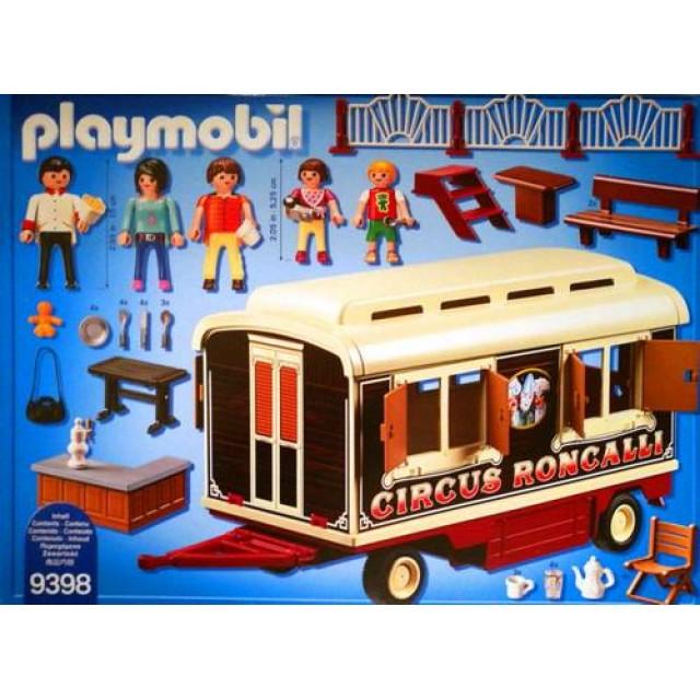 Playmobil 9398 - Circus Roncalli Caravan - Back