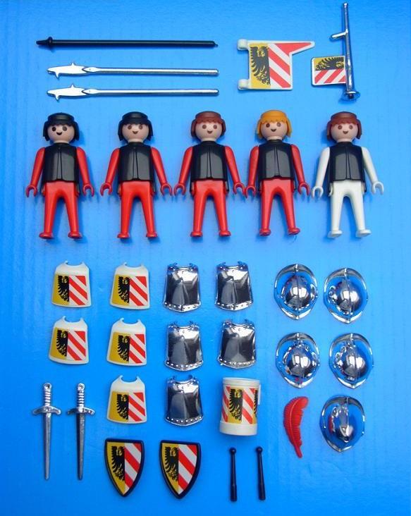 Playmobil 3291v1 - Guards - Back