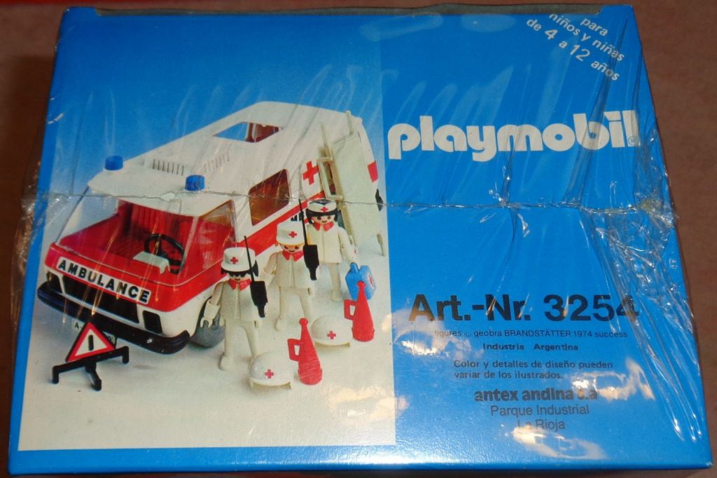 Playmobil 3254v1-ant - Ambulance - Box