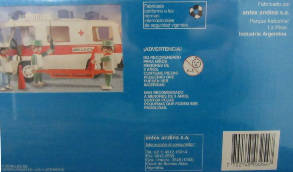 Playmobil 3254v3-ant - Ambulance - Box