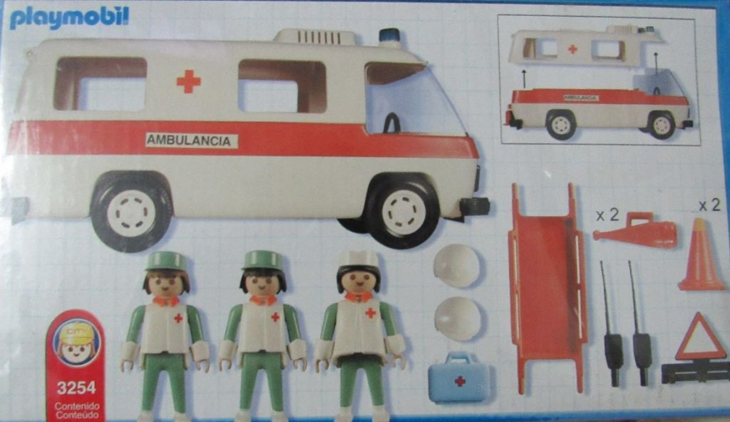 Playmobil 3254v3-ant - Ambulance - Back