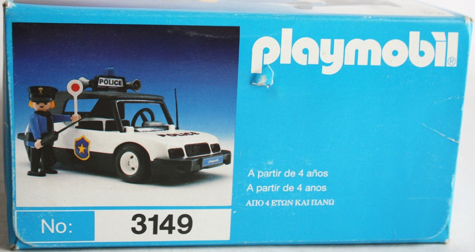 Playmobil 3149-esp - Police car - Box