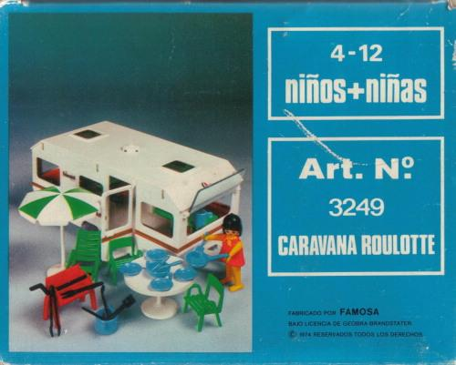 Playmobil 3249v1-fam - Caravan / orange awning - Box
