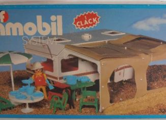 Playmobil - 3249v2-fam - Caravan / beige awning