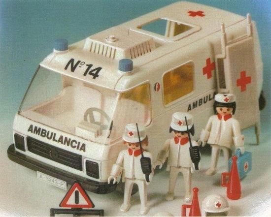 Playmobil 3254-fam - Ambulance - Back