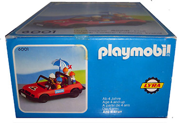 Playmobil 6001-lyr - convertible car with family - Back