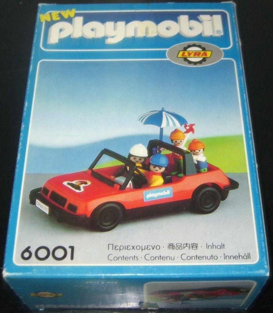 Playmobil 6001-lyr - convertible car with family - Box