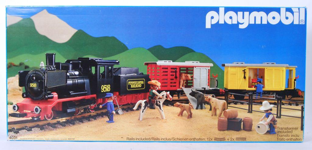 Playmobil set 4031 ukp steam freight train set - Train playmobil ...