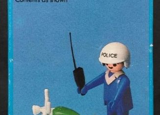 Playmobil - 1729/1-pla - Policeman with motorcycle
