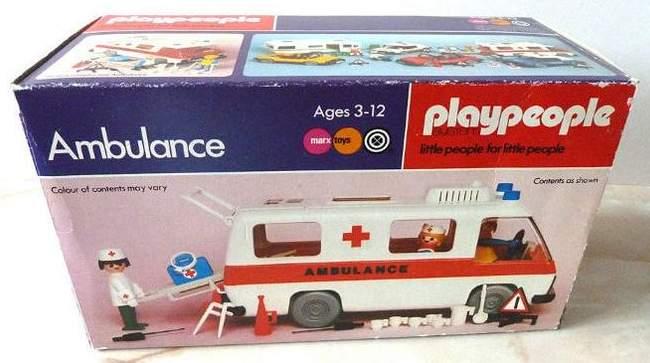 Playmobil 1748v1-pla - Krankenwagen - Box