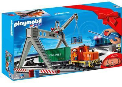 Playmobil 4085 - Cargo train with portal crane - Box