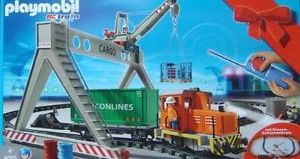 Playmobil - 4085 - Cargo train with portal crane
