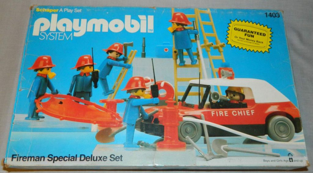 Playmobil 1403-sch - Fireman Special Deluxe Set - Box