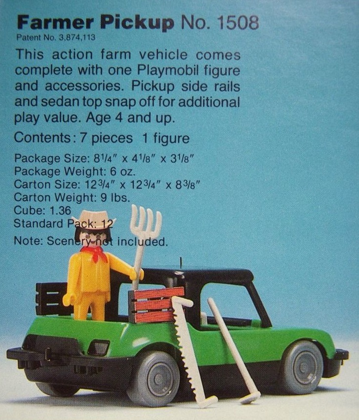 Playmobil 1508-sch - Farm Truck Set - Back