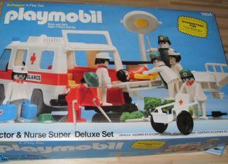 Playmobil - 1804v2-sch - Doctor & Nurse Super Deluxe Set