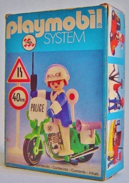 Playmobil 23.57.2-trol - policeman with motorcycle - Box