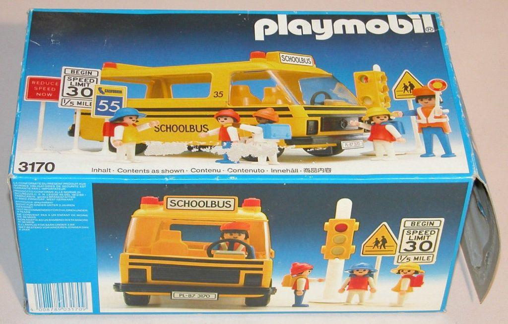 Playmobil 3170s1v1-usa - Schoolbus - Box