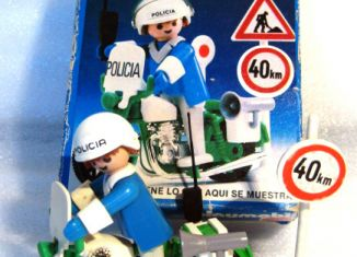 Playmobil - 13572-xat - Policeman with motorcycle