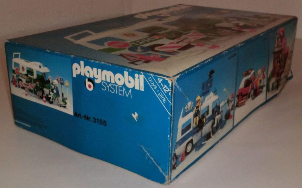 Playmobil 3155s2 - Police Van & motorbike - Back