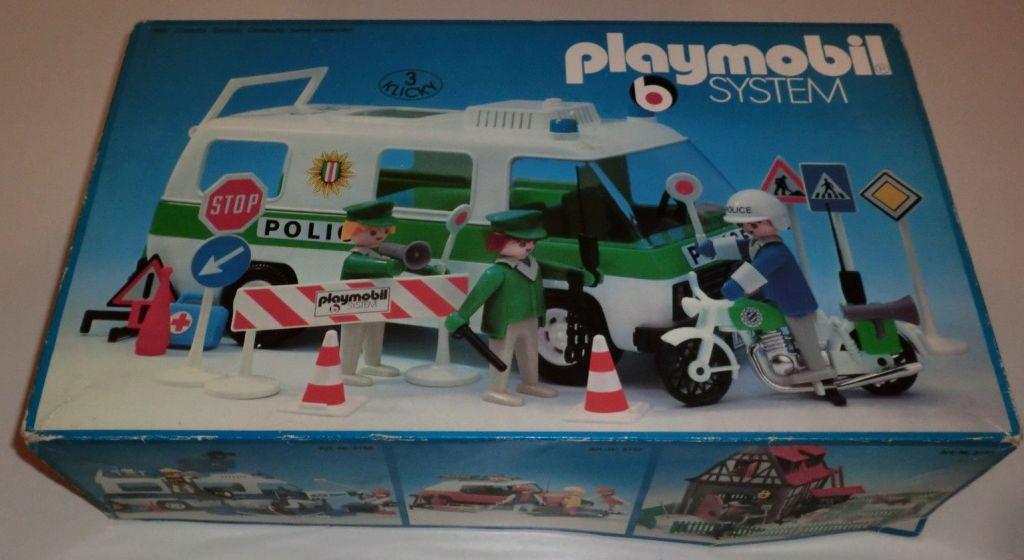 Playmobil 3155s2 - Police Van & motorbike - Box