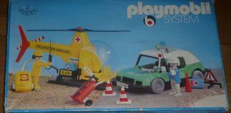 Playmobil - 3158s1v1 - Helipcoter service + Police car