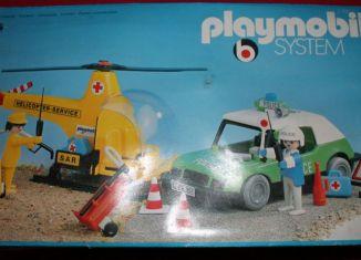 Playmobil - 3158s1v2 - Helicopter Service + Police car