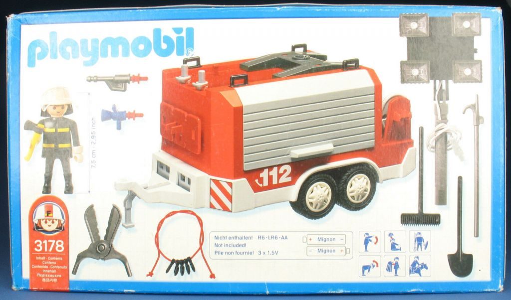 Playmobil 3178s2 - Fire Support Vehicle - Back