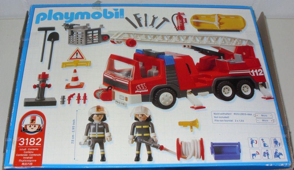 Playmobil 3182s2 - Firemen / Ladder Truck - Back
