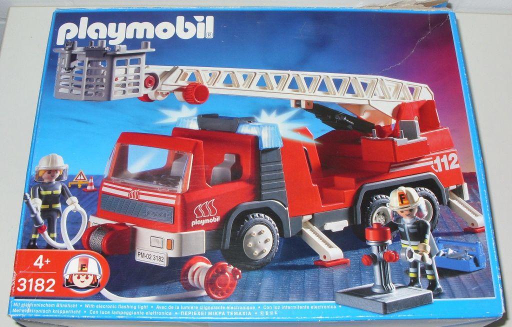 Playmobil 3182s2 - Firemen / Ladder Truck - Box