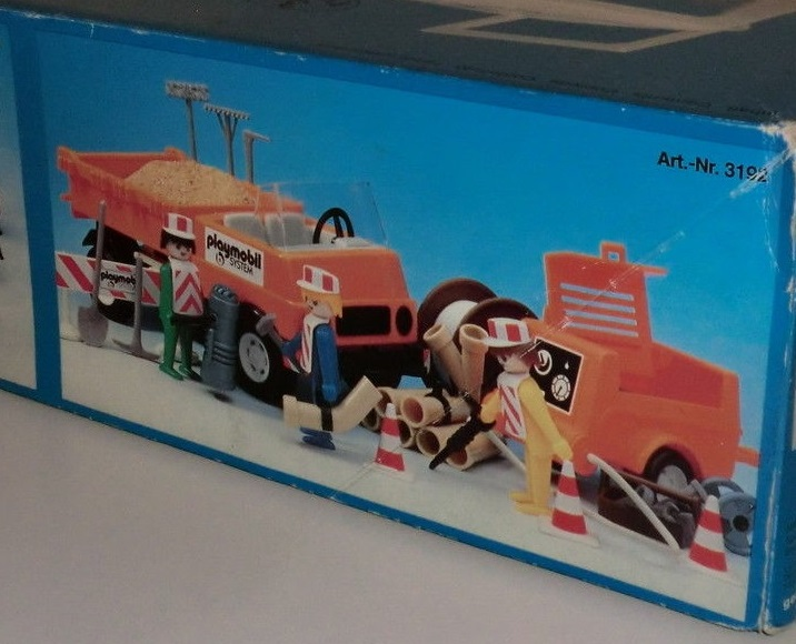 Playmobil 3192s1v1 - Road Workers with Truck - Box
