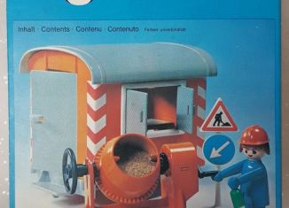 Playmobil - 3207s1v1 - Construction Trailer and Cement Mixer
