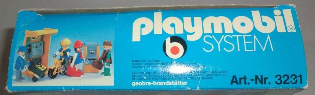Playmobil 3231v1 - Post office - Back