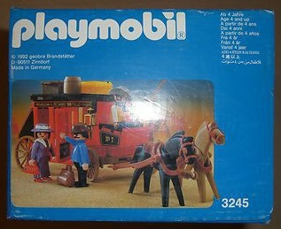 Playmobil 3245v3 - Wild West Stagecoach - Back