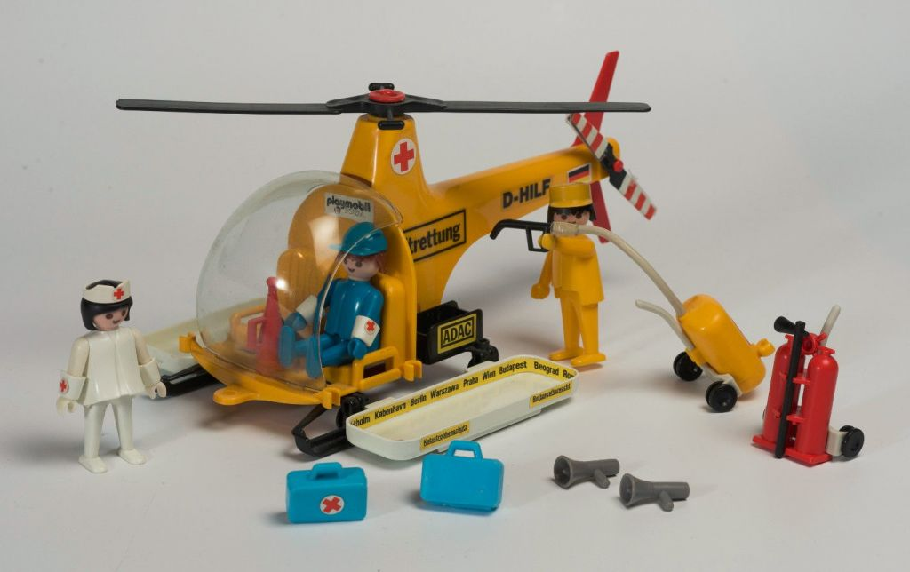 Playmobil 3247v1 - Rescue helicopter - Back