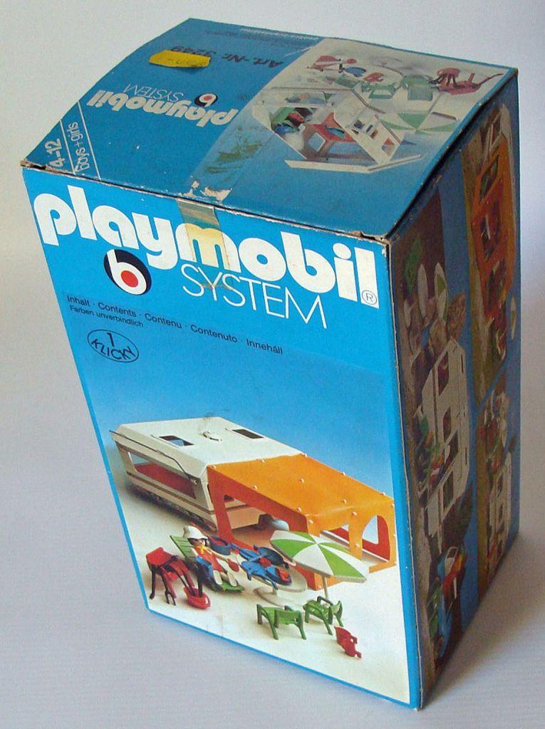 Playmobil 3249s1v1 - Caravan / orange awning - Box