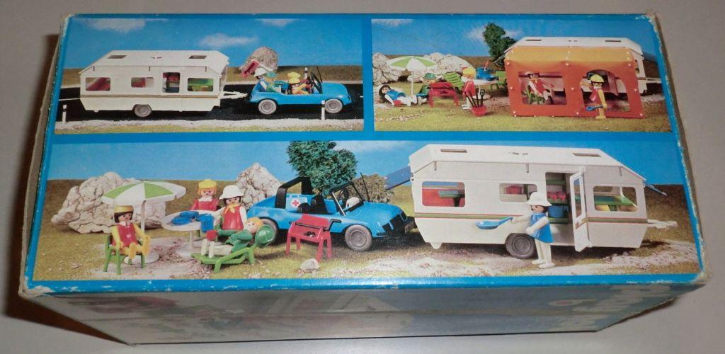 Playmobil 3249s1v1 - Caravan / orange awning - Back