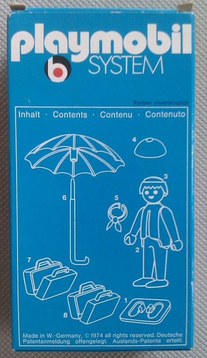 Playmobil 3322v1 - Man With Umbrella - Back