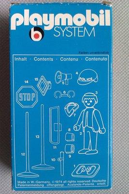 Playmobil 3324v1 - Policeman / 2 road signs - Back