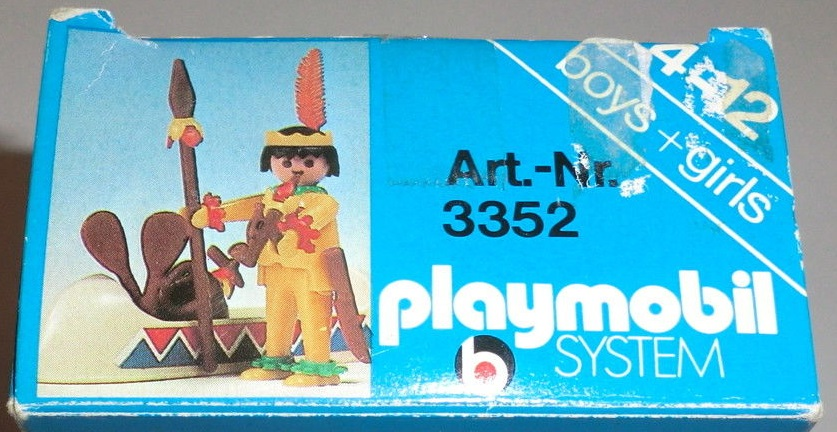 Playmobil 3352s1 - Indian / Canoe - Back